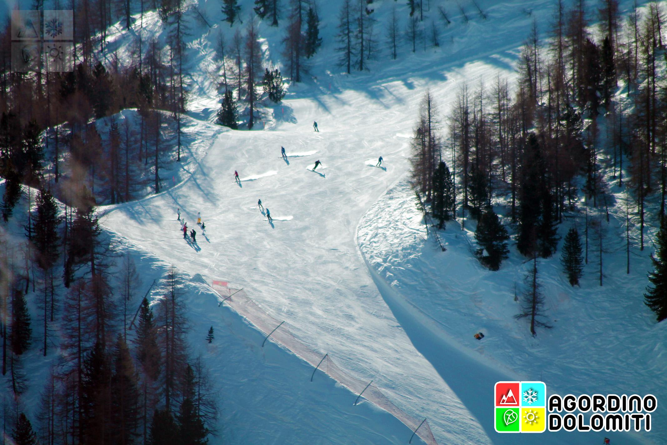 Sciare a Falcade e Passo San Pellegrino