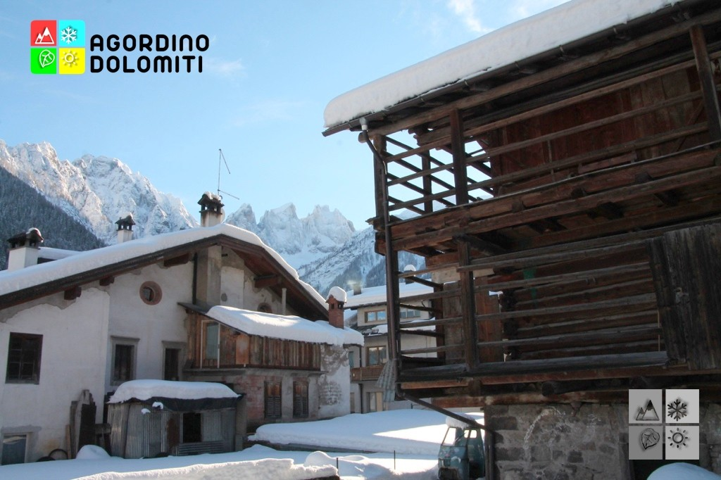 Wood Barns of the Dolomites in Falcade