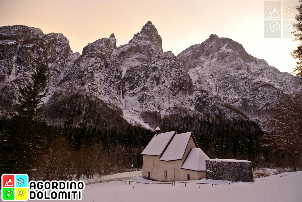 Chiesa di San Lucano in Valle di San Lucano, Taibon Agordino, Dolomiti