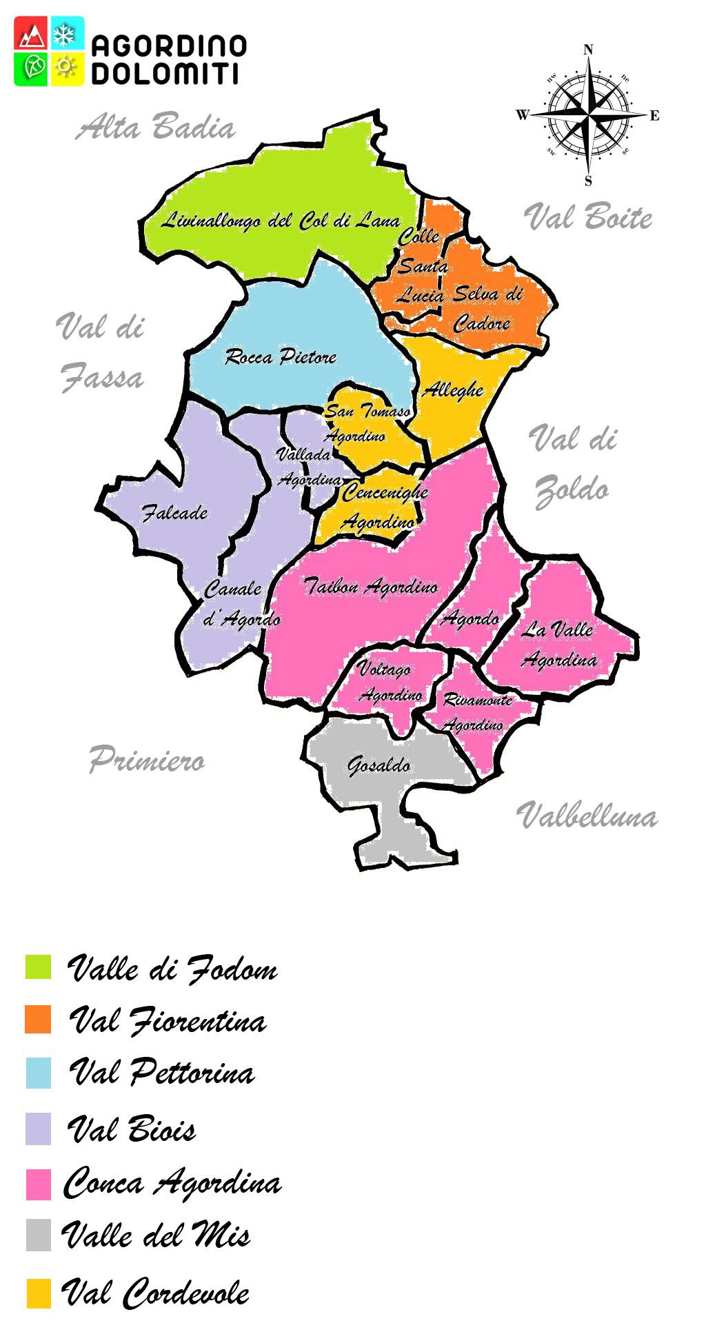 Valli del territorio Agordino Dolomiti